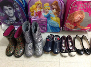 ASSORTED SHOES & SCHOOL BAGS IN PERFECT CONDITIONS