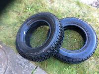 Radial ST/2 snow tracker tires 2 for $200