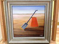 Original Art Cornish beach scene painting
