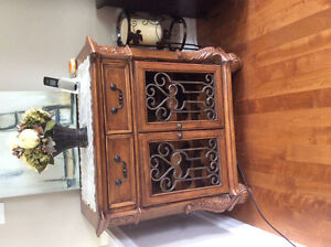 Wine holder cabinet hutch wall table stand