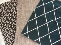 Various cushion covers - grey, green, black, Aztec patterns 50x50cm