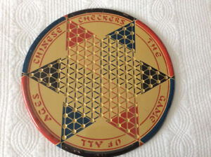 Chinese checkers game board- vintage