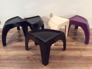 1970s Fiberglass Side Tables - Tables en Fibre de Verre 1960-70