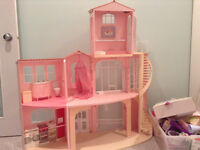 Barbie House, Cars, Dolls & Accessories