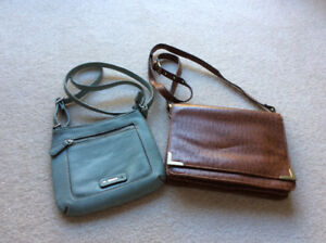 2 PURSES - Cross Over Strap - Clean Nice Condition
