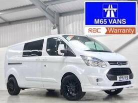 2015 FORD TRANSIT CUSTOM CREW CAB LIMITED LWB 2.2TDCi 125PS L2H1 LIKE M SPORT