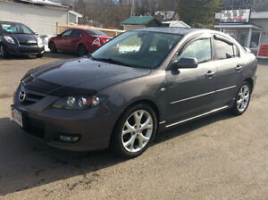 2008 MAZDA 3. LEATHER, MOONROOF, CALL 832-9000 OR 639-5000