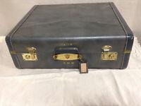 745: Vintage Dark Blue Suitcase EMW $35