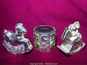 Silver Plated Coin Banks (June 3)