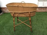 Whicker baby basket