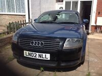 Audi tt 1.8 turbo 225 bhp 02 gas converted 77000 miles