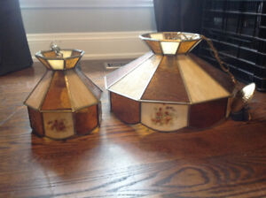 Small and large tiffany ceiling lights