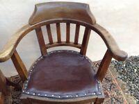 Victorian Oak chairs (pair)