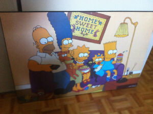 Simpsons wood poster