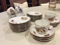 Royal Worcester Evesham China Tea Set