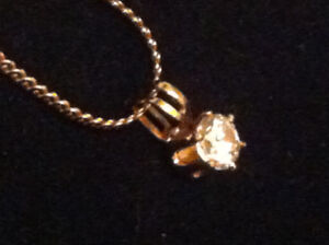 Yellow Gold Plated Necklace .12K-[20 inches ]