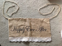 Wedding Burlap Banner - Happily Ever After