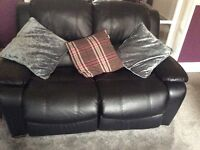 Faux Leather 3 and 2 seater recliner sofas for sale