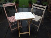Shabby Chic Wooden Garden Bistro Kitchen Table & Chairs Wedding Accessorie