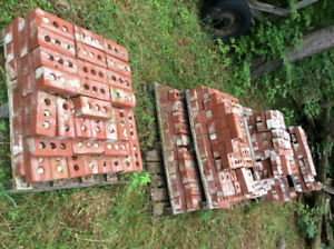 "Original Red clay 8"" bricks"