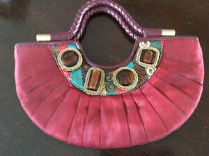 Red jewelled Evening Purse