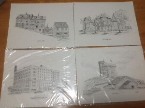 A Series of 4 Prints Of Historic St. John's - The Great Soirée