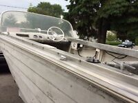 Great aluminum boat with trailer for sale