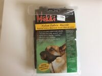 Nylon fabric dog muzzle