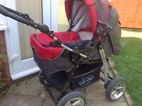 Baby Merc pram/ pushchair & Car seat.