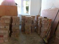 Hand made clay bricks
