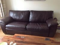 **REDUCED - MUST GO!!** was £250.00 NOW £200 IKEA LEATHER 3 SEATER BED SETTEE