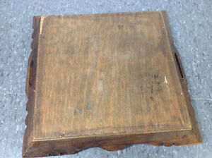 "Vintage wood and tile decorative tray - 13""x13"" Cambridge Kitchener Area image 6"
