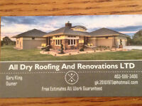 All Dry Roofing And Renovations LTD.