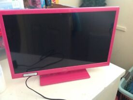 24 inch pink tv