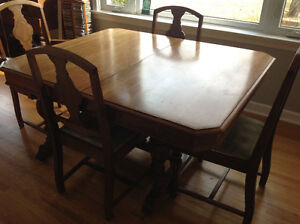 Antique dining set circa 1920 with hutch and China cabinet