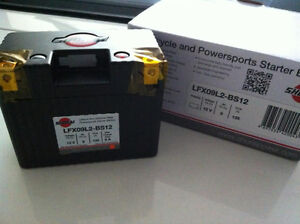 LITHIUM SHORAI BATTERY FOR MOTORCYCLES AND ATVS LFX09L2-BS12