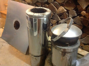 10 inch stainless stove pipe and roof fittings and cap