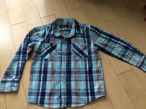 Boys plaid shirt size 4