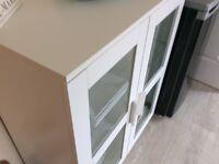 Versatile white cabinet