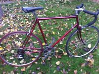 "Retro Raleigh road bike 25"" frame"