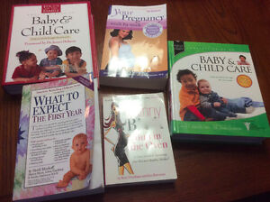 Pregnacy & CHild care books all like new