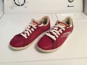 Anta Red Leather Running Shoes