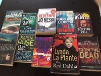 Ten thriller / mystery murder books
