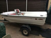 9 1/2 Foot Double Skin Dinghy with Trailer