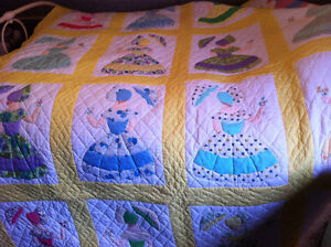 Double Quilt with embroidered touch