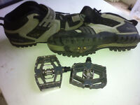 Crank bro MALLET pedals and shimano shoes