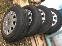 4x VW Golf MK4 Wheels including tyres