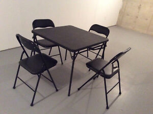 CARD TABLE and 4 MATCHING CHAIRS