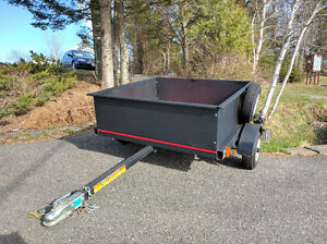 4' steel side utility trailer with spare