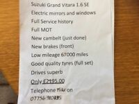 SUZUKI GRAND VITARA 2004. POSSIBLE P/X FOR 7 SEATER, SEE AD'